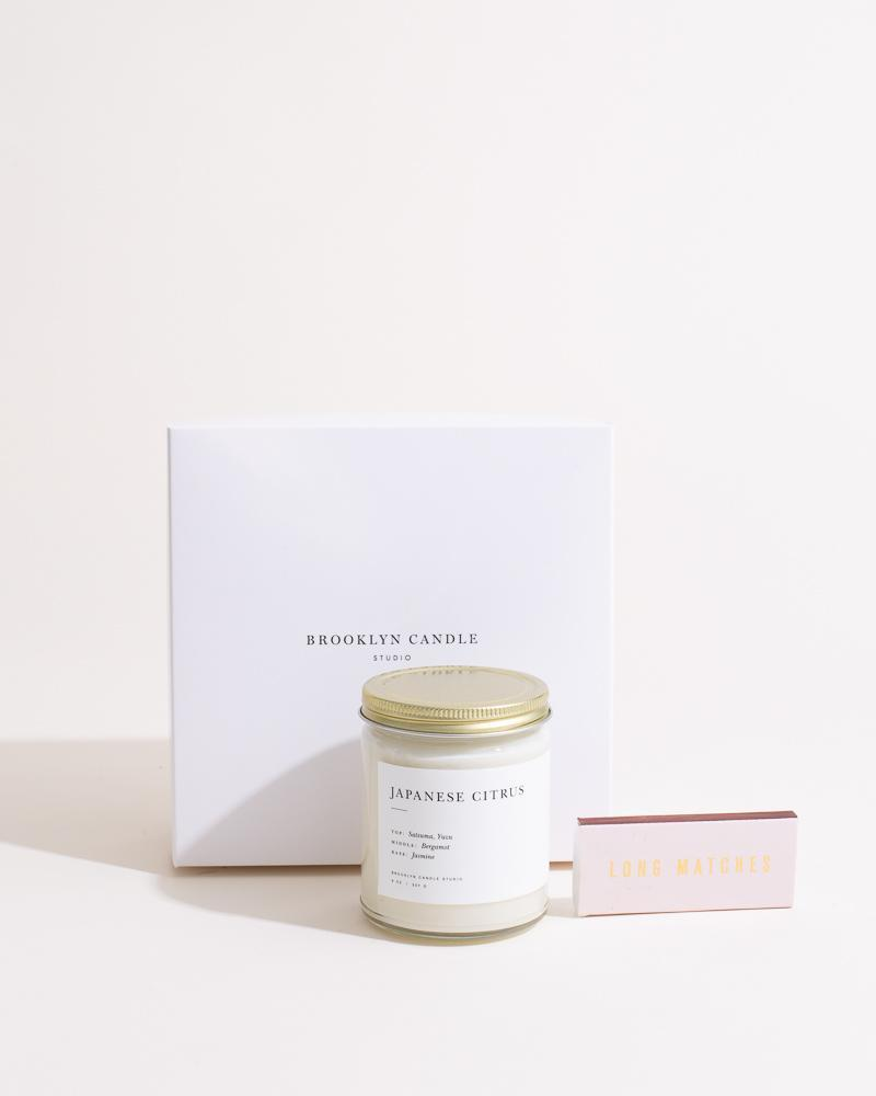 Candela + Matchbox Gift Set Minimalist Brooklyn Candle Studio