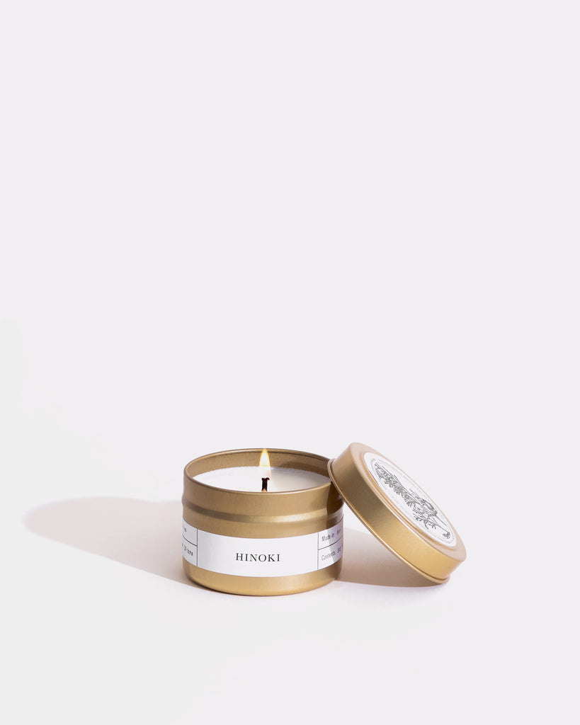 Hinoki Gold Travel Candle Mini Candle Tins Brooklyn Candle Studio