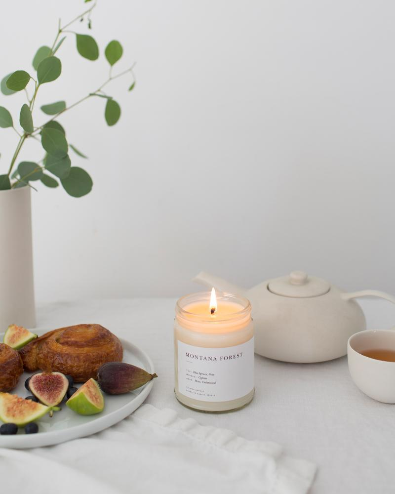 Montana Forest Minimalist Candle Minimalist Brooklyn Candle Studio