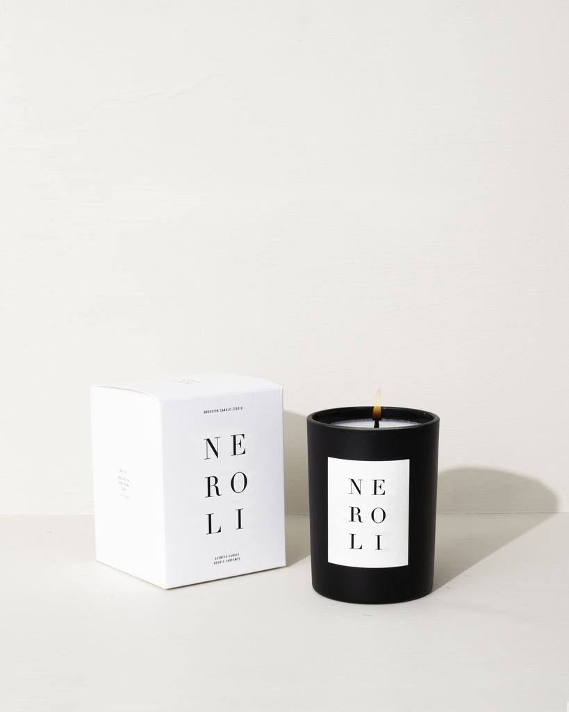 Orange Blossom Black Candles Studio