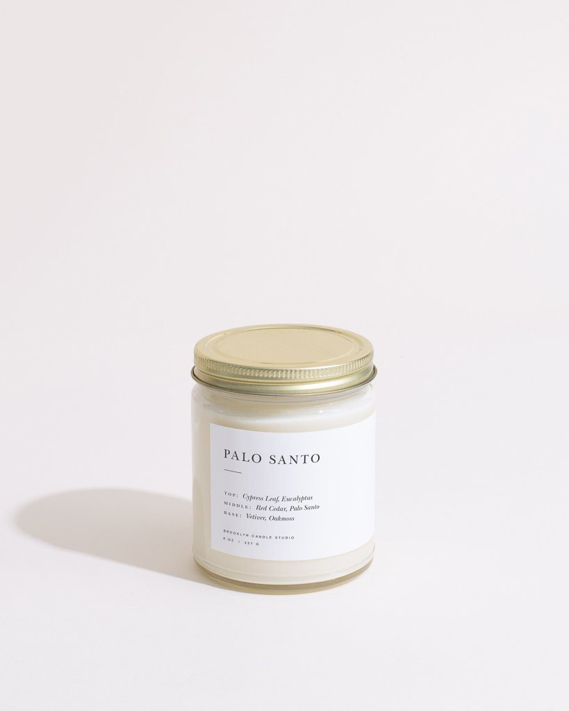 Palo Santo Candle Minimalist Brooklyn Candle Studio