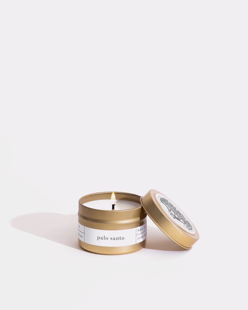 Palo Santo Gold Reisekerze Mini Candle Dosen Brooklyn Candle Studio
