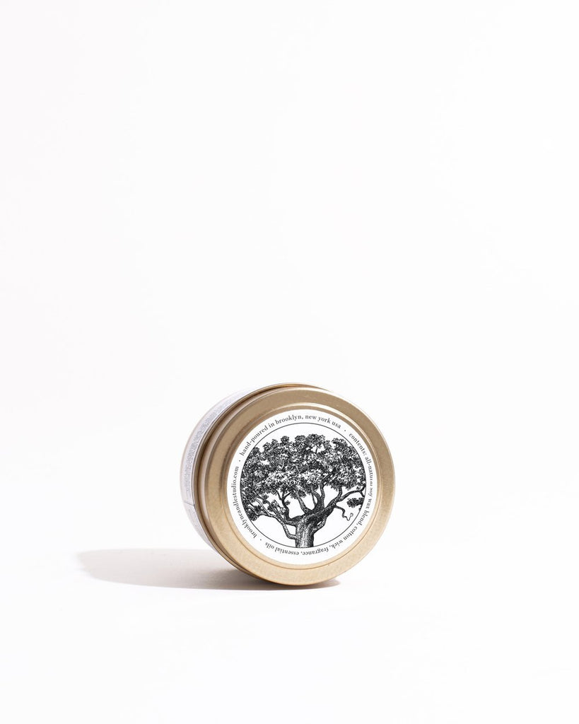Palo Santo Gold Travel Candle Mini Candle Tins Brooklyn Candle Studio