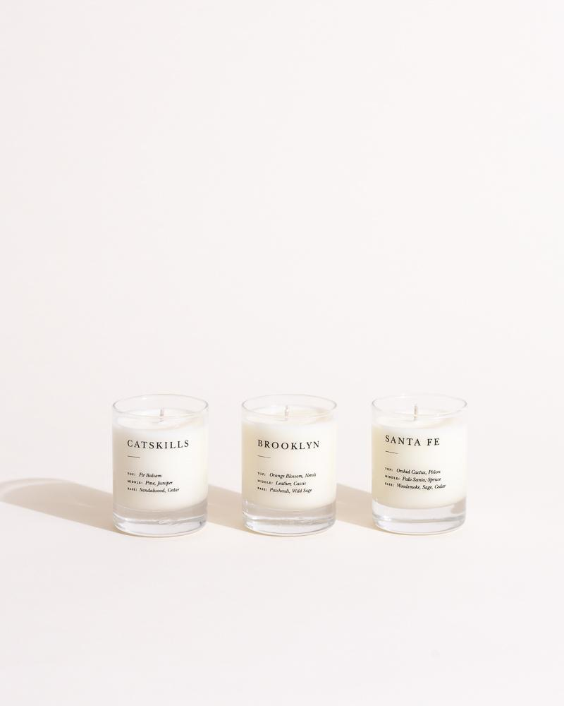 Pick 3 Escapist Mini Candle Set Escapist Collection Brooklyn Candle Studio