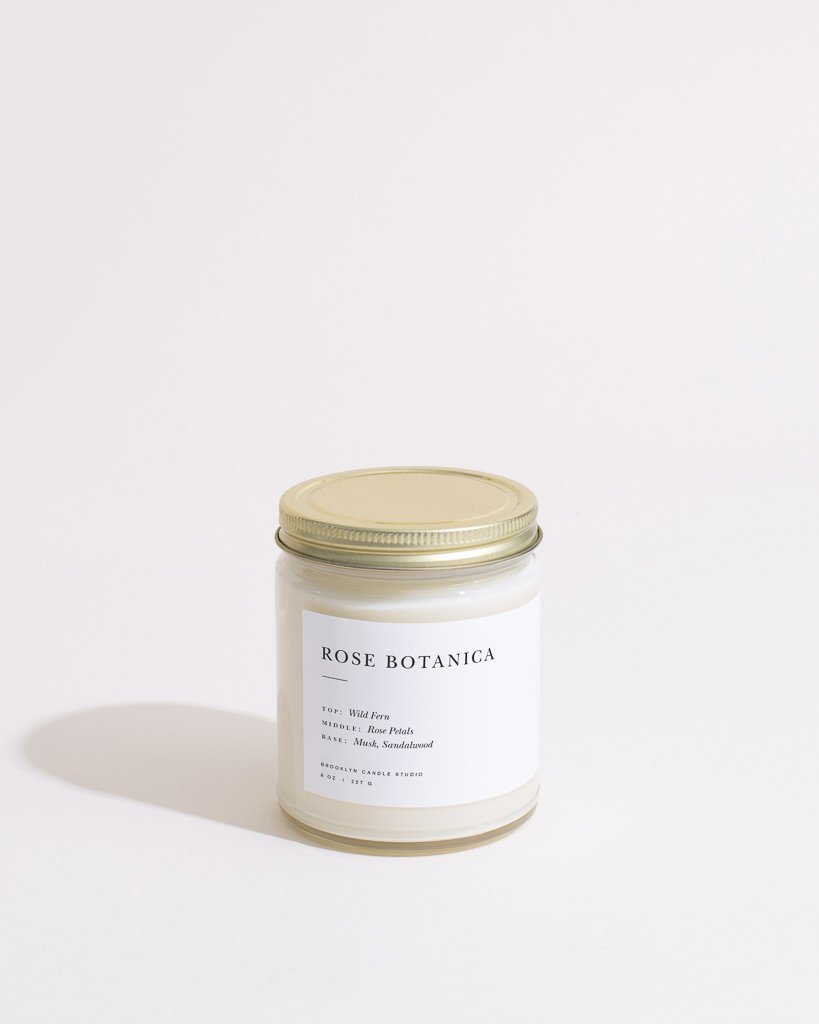 Rose Botanica Candle Minimalist Brooklyn Candle Studio