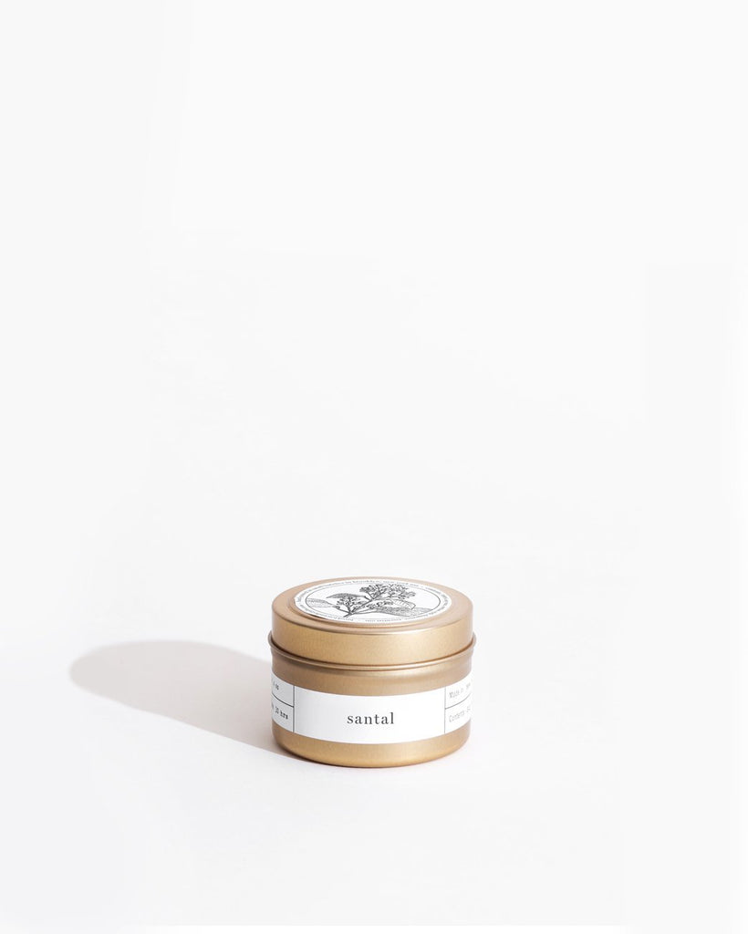 Santal Gold Travel Candle Mini Candle Tins Brooklyn Candle Studio