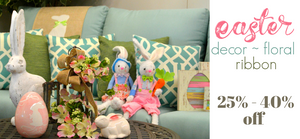 Ellis Home and Garden Easter Decor, Floral, and Ribbon now on sale 25 to 40 percent off