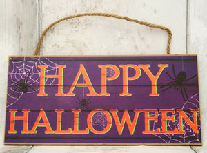 "12.5"" Happy Halloween Wood Sign-Halloween Decor-Ellis Home & Garden"