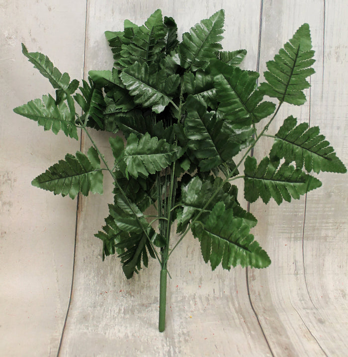 "17"" Silk Leather Leaf Bush"