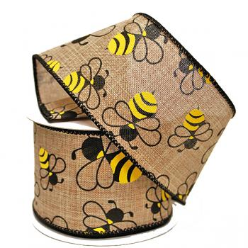 "2.5"" Spring Bumble Bee Ribbon"