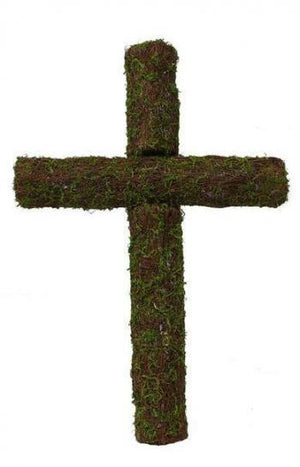 "24"" Moss & Angel Vine Cross-Grapevine & Drieds-Ellis Home & Garden"