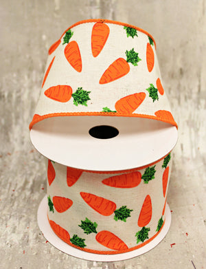 "2.5"" Carrots Ribbon-Easter Ribbon-Ellis Home & Garden"