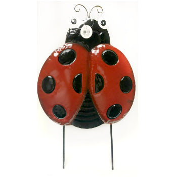 Metal Lady Bug Yard Stake