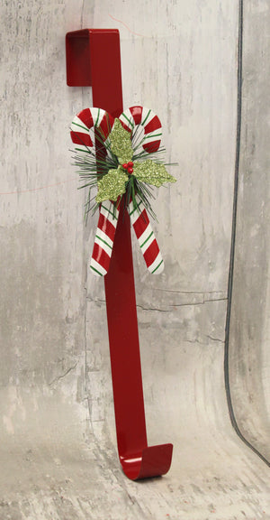 Christmas Candy Canes Red Wreath Holder
