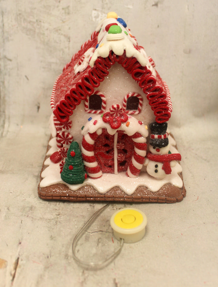 "6"" Gum Drop Gingerbread House"