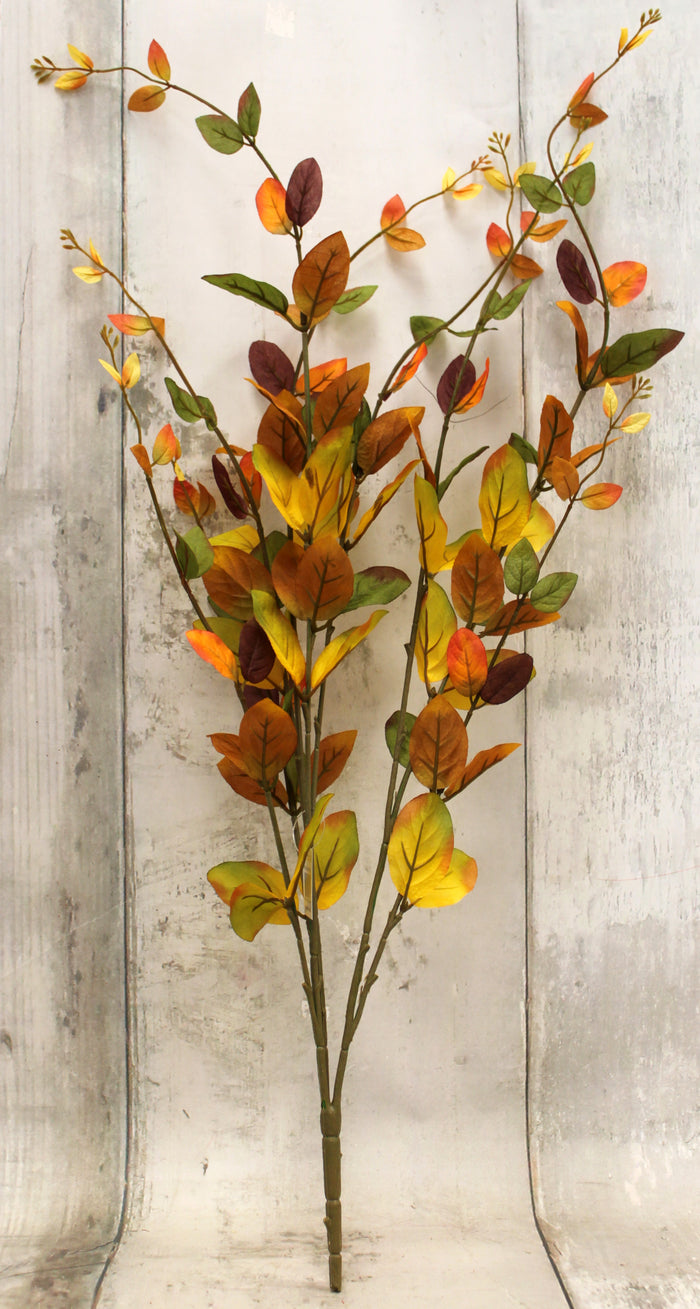 Fall Leaves Floral Bush