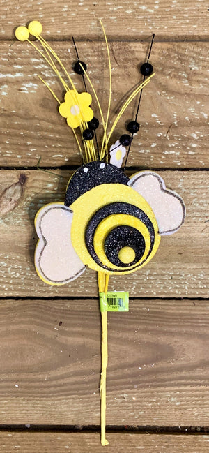 "18"" 3-D Bumble Bee Daisy Pick"