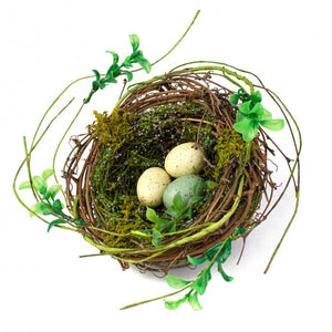 "6.5"" Birds Nest with Eggs-Easter Floral-Ellis Home & Garden"