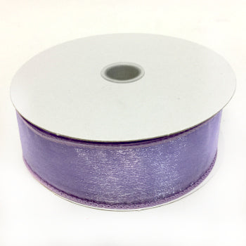"Lavender Wired Sheer Ribbon 1.5"" by 25 yards"