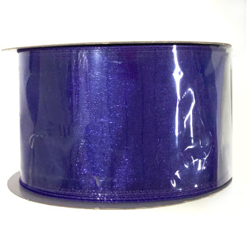 "2.5"" Purple Sheer Wired Ribbon"