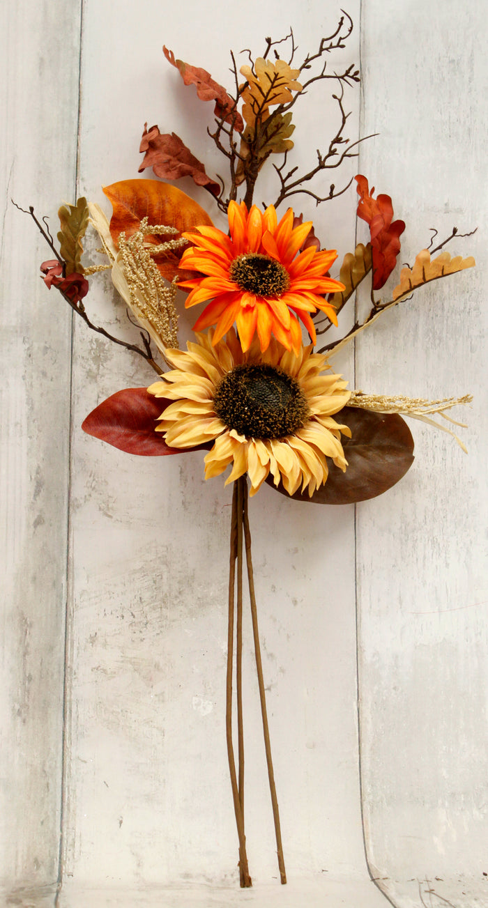"32"" Sunflower & Wheat Fall Floral Spray"