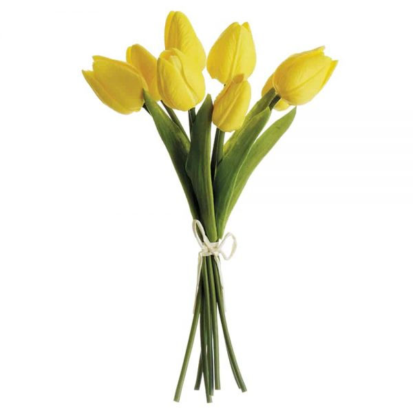 "10"" Soft Touch Yellow Tulip Bundle"
