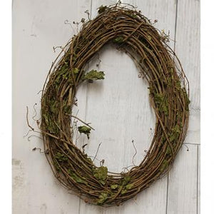"24"" Oval Grapevine Wreath"