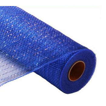 "10"" Metallic Deco Mesh - Royal Blue"