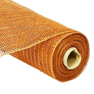 "10"" Metallic Deco Mesh - Copper"