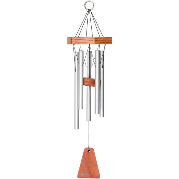 "Arias 17"" Windchime in Satin Silver"