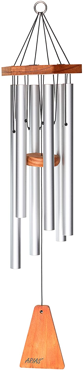 "Arias 29"" Windchime in Satin Silver"