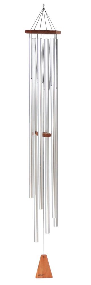 "Arias 58"" Windchime in Satin Silver"