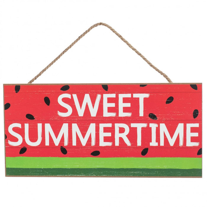 "12.5"" Sweet Summertime Watermelon Wood Sign"