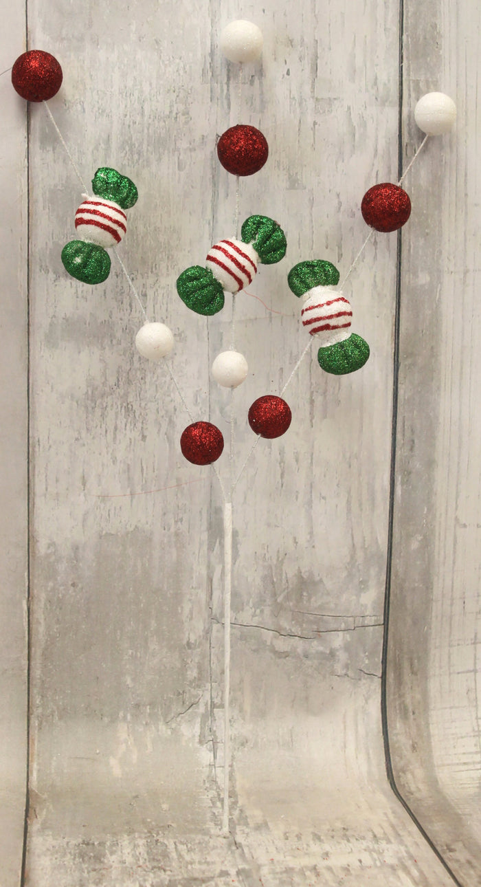 Red, White, & Lime Green Christmas Candy Spray