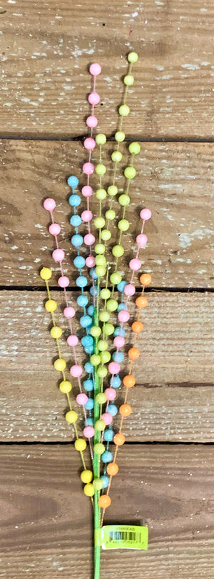 Spring Pastels Small Foam Beads Mix Spray-Easter Floral-Ellis Home & Garden