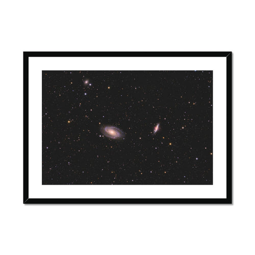 Bode & Cigar Galaxies Framed & Mounted Print