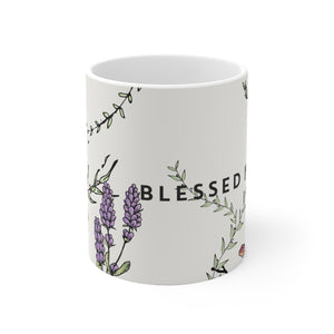 Blessed is She-White Ceramic Mug