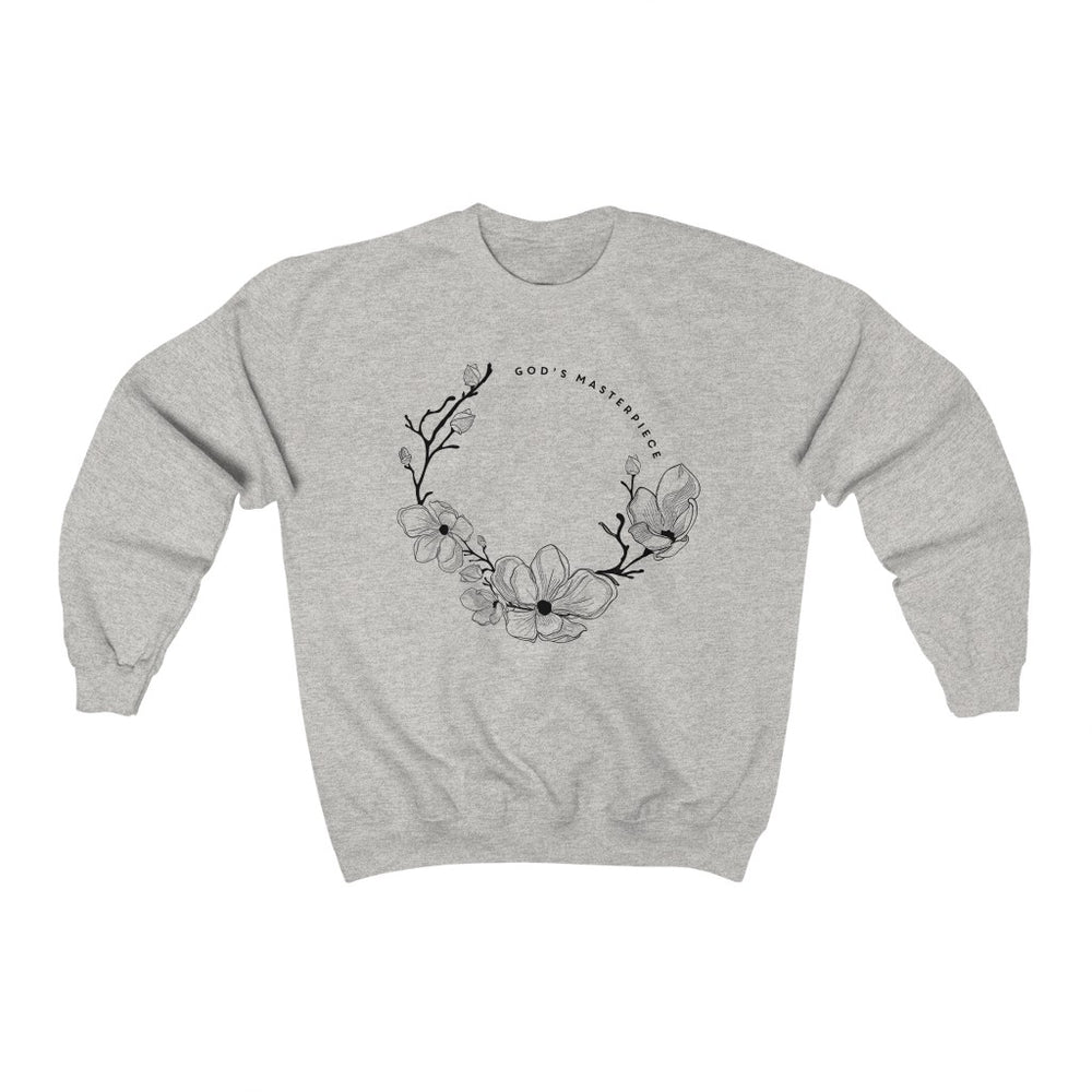 God's Masterpiece wreath - Unisex Crewneck Sweatshirt