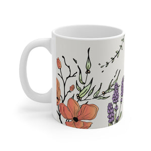 Load image into Gallery viewer, Blessed is She-White Ceramic Mug