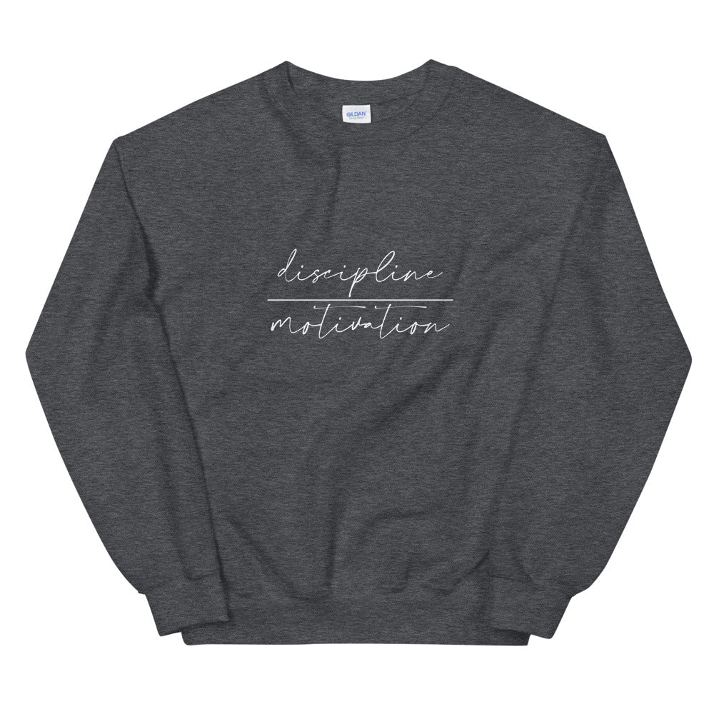 Unisex Sweatshirt - discipline | motivation - white logo