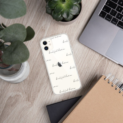 iPhone Case - beautiful human - black pattern