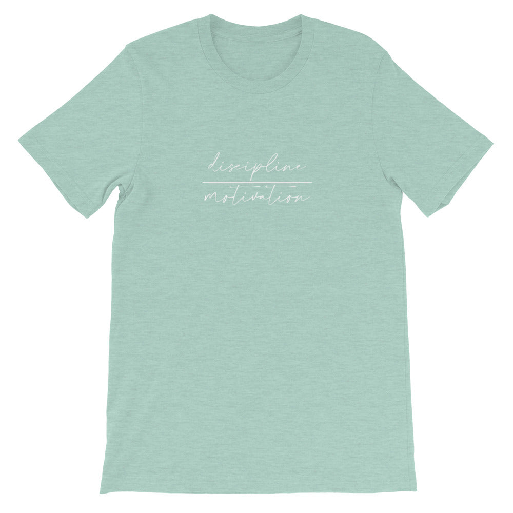 Short-Sleeve Unisex T-Shirt - discipline | motivation