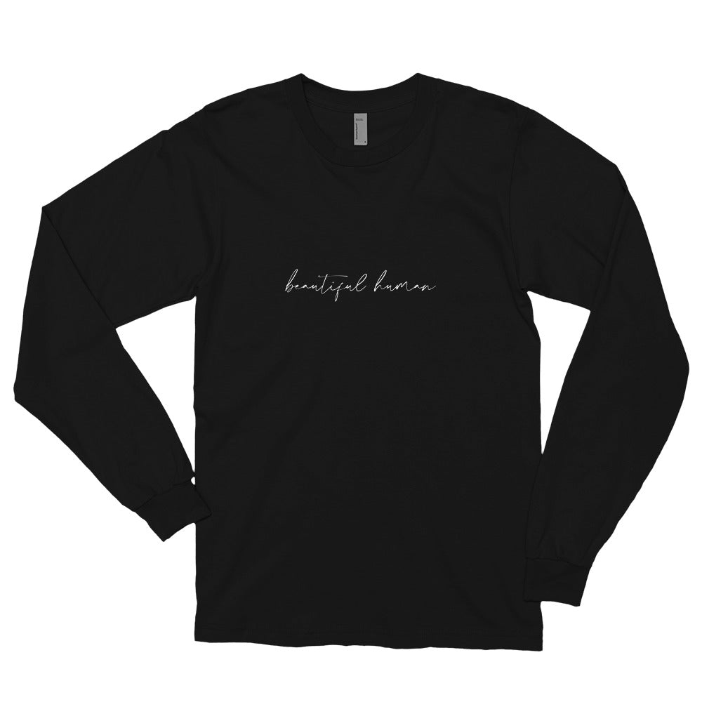 Long sleeve t-shirt - beautiful human - white logo