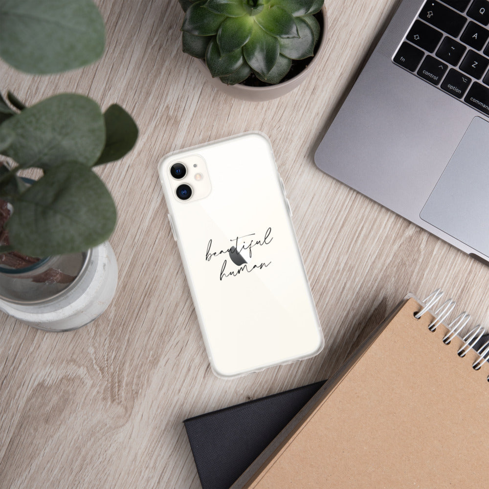 iPhone Case - beautiful human - black