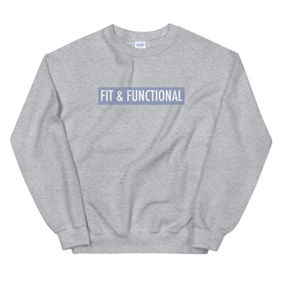 Unisex Sweatshirt - FIT & FUNCTIONAL - Pigeon Blue Logo