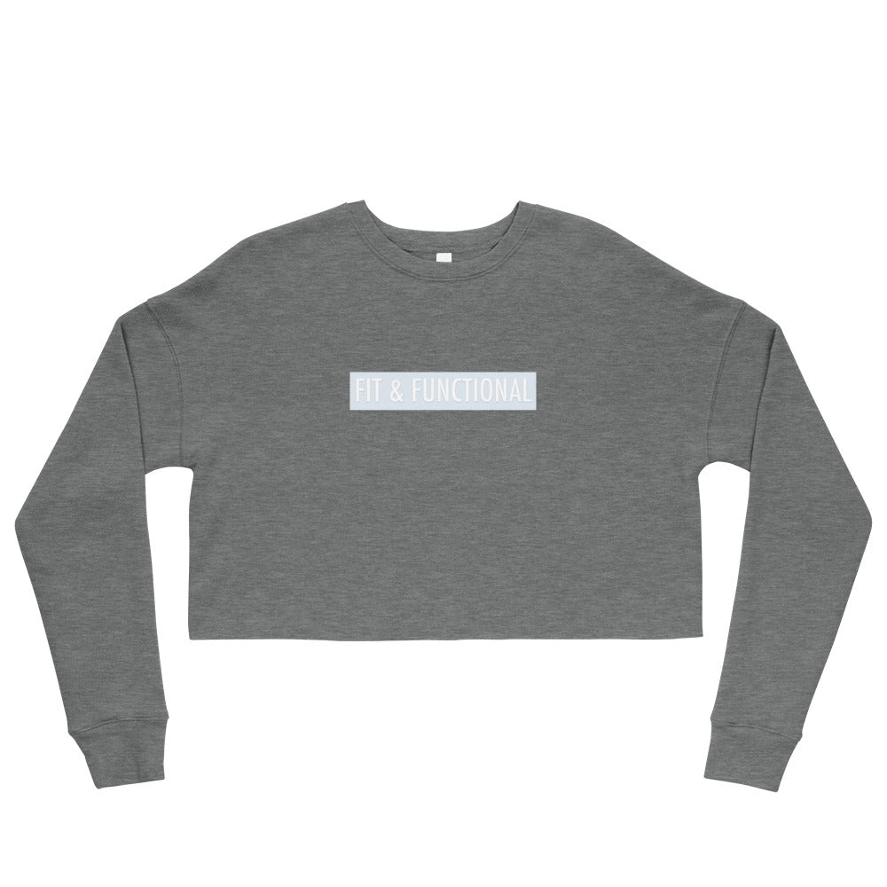 Crop Sweatshirt - FIT & FUNCTIONAL - Baby Blue Logo