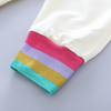100% cotton Toddler Girl 2-piece  STRIPED  Rainbow TEE & pant set