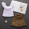 Toddler Girl Flounce Top and Leopard Shorts Set