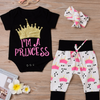baby Letter short sleeve jeans three suit