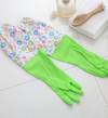 Rubber Thick Waterproof household Gloves  (1 Pair,Green Medium)